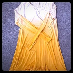 Yellow ombré dress
